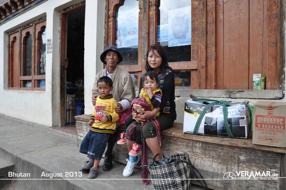 Bhutan Familie