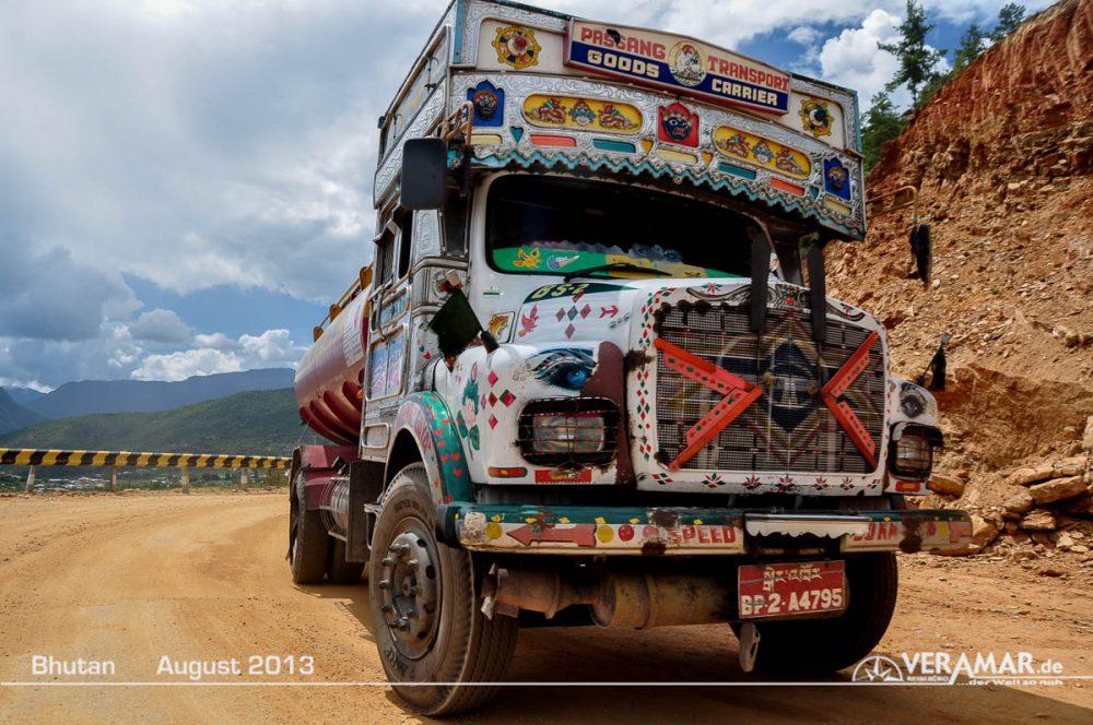 Bhutan Lastwagen