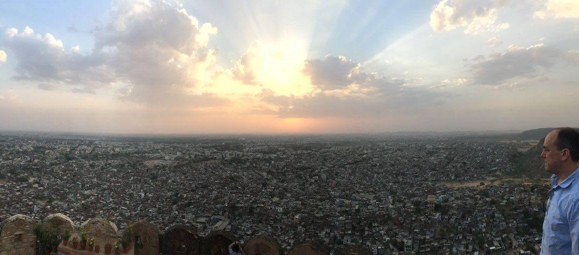 ReiseSpezialsit Andreas Steiner Blick über Jaipur, Indien