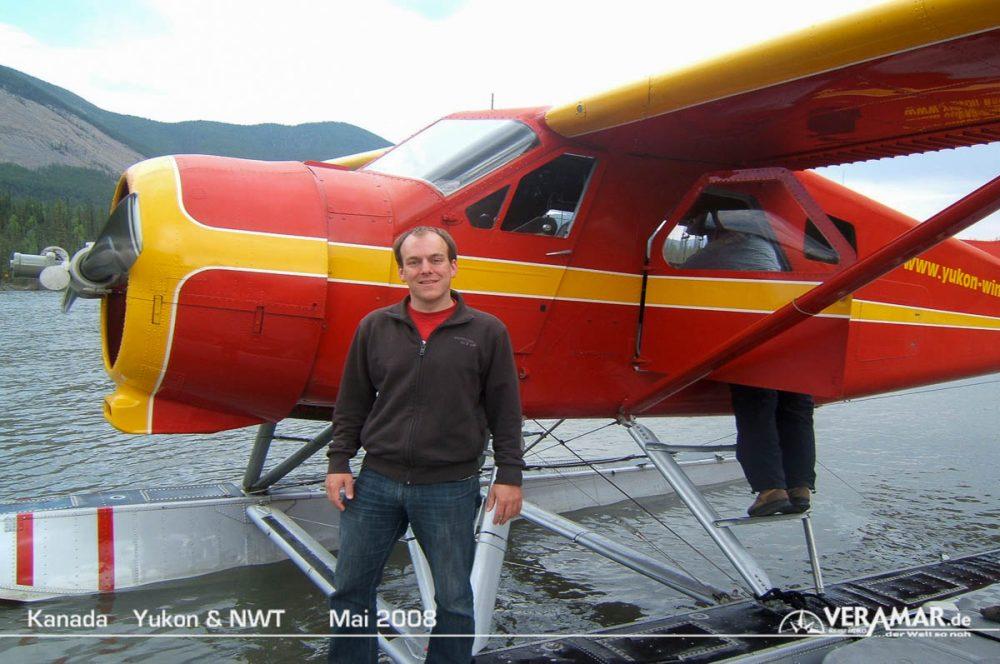 Wasserflugzeug Ankunft