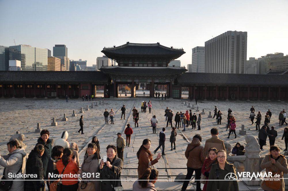 Vorplatz Tempel Seoul