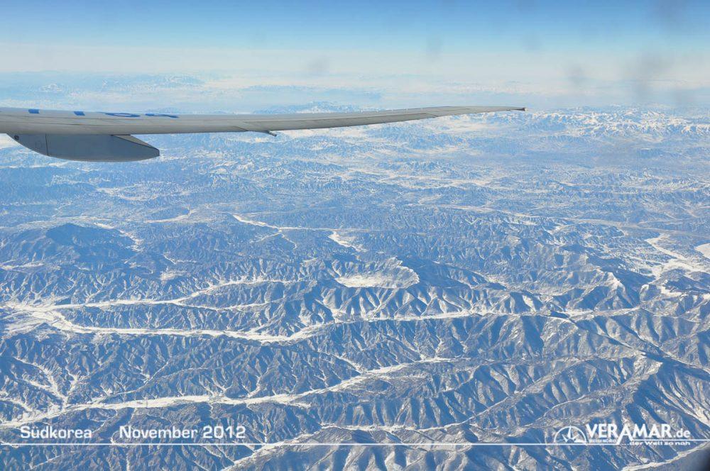 Anflug Südkorea